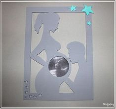 Eine tolle Erinnerung an die Schwangerschaft. ♥ Der Bilderrahmen ist ein wunde… A great reminder of the pregnancy. ♥ The picture frame is a beautiful gift for (expecting) mum. ♥ ** Materials: ** Plywood mm thick) Acrylic paint (harmless and … Baby Shawer, Baby Kind, Baby Love, Diy Baby, Scrapbook Bebe, Ultrasound Pictures, Creation Deco, Baby Party, Baby Room Decor