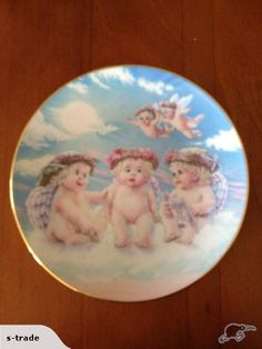 The Flying Lesson plate from the Dreamsicles Plate Collection