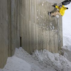 @jussioksanen is probably most known for his flawless style on larger than life backcountry jumps but he had no problems handling features in the streets as well. Here he is putting up a wallride in Austria while filming for @mackdawgproductions' Follow Me Around. Photo: @andywrightphoto #throwbackthursday #TBT #twsnow