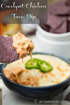 Crockpot Chicken Taco Dip | Ari's Menu