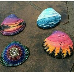 Seashells, craft ideas.