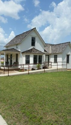 """Side view of Frank Eaton """"Pistol Pete's"""" house in Perkins Oklahoma."""