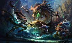 ArtStation - Baron fight-League of Legends, Suke ∷