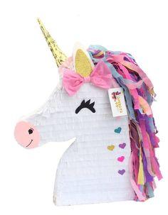 Unicorn Pinata with Pink Bow Magical Unicorn Theme Party Favor Diy Unicorn Birthday Party, Birthday Party Games, Unicorn Surprise, Baby Unicorn, Unicorn Balloon, Magical Unicorn, Beautiful Unicorn, Valentine Box, Feltro
