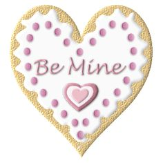 VALENTINE'S DAY HEART BE MINE CLIP ART