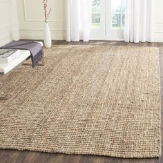 Bring organic softness to your living room with this fine sisal rug from Safavieh Hand-woven Weaves. The soft jute sisal offers a natural touch to elevate your Rug Styles, Natural Area Rugs, Online Home Decor Stores, Natural Fiber Rugs, Farmhouse Style Rugs, Rugs, Braided Area Rugs, Natural Rug, Sisal Rug