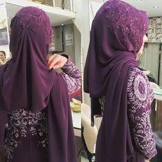Wedding Hijab, Wedding Dresses, Hijab Fashion, Fashion Outfits, Batik Kebaya, Stylish Hijab, Turban Hijab, Hijab Trends, Moda Emo
