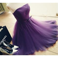 Purple Vestido Dress