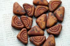12mm Czech Glass Beads  Rustic Triangle Beads  by BeadSoupBeads, $4.75