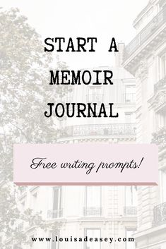 Start your memoir writing practise with these three memoir journal prompts to get you #writing in your #diary to start your #memoir! Read the post to nab the prompts.