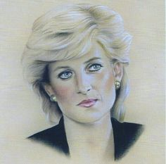 Lady diana----beautiful colour pencil drawing