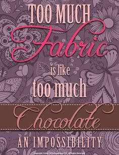 Too much fabric? Inconceivable!