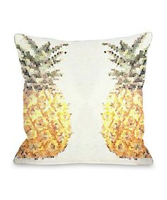 Another great find on #zulily! Pineapple Half 18x18 Pillow #zulilyfinds