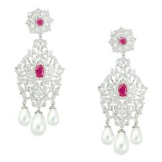 Crown Drop Earring  Product Code : ADERL1400012  Type : Red Hydro, Pearl, Swarovski    Color :Red  #SilverEarringsOnlineShopping  #SilverEarringsOnlineIndia  #SilverEarringsIndia    #SilverEarringsOnline  #BuySilverEarringsOnline   #SilverEarringsForWomen  #SilverEarring #DesignerSilverEarrings   #BuySilverEarrings  #SilverEarrings  #Earrings