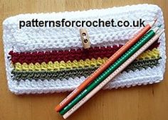 Ravelry: PFC59 Easy Pencil Case Crochet Pattern pattern by Patternsfor Designs