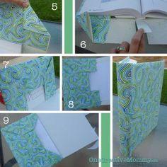 Next Steps for Paper Book Cover {OneCreativeMommy.com}