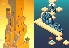 Did you play Monument Valley (above left), the gorgeous perspective-based puzzler from last year? It costs $4 on Google Play / iTunes, and is one of 2014'