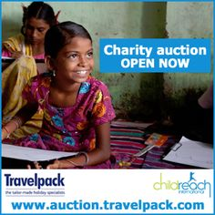 On the 19 September 2013, Travelpack will be holding a charity fundraiser for our adopted charity Childreach.Travelpack have created an auction website featuring sports memorabilia, tickets to sporting events and other items which should help raise funds for this worthwhile charity.  Online auction: http://auction.travelpack.com/  Below is information on Childreach the link provides detail information on the charity http://www.childreach.org.uk/