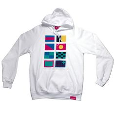 Pink+Dolphin — Nautical Flag Hoody in White - $80.00