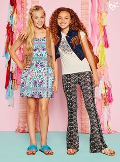 Wake up your wardrobe with can't-miss looks from our global prints collection! Cute Girl Outfits, Sporty Outfits, Cool Outfits, Girls Dresses Tween, Tween Girls, Justice Shorts, Justice Outfits, Tween Fashion, Fashion Outfits