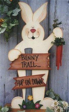 40+ DIY Easter Wood Crafts which are a result of Labour, Love And Patience - Hike n Dip Wood Craft Patterns, Tole Painting Patterns, Bunny Crafts, Easter Crafts, Easter Decor, Easter Ideas, Spring Crafts, Holiday Crafts, Ideas Actuales