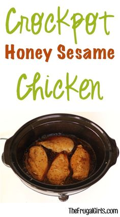 Slow Cooker Honey Sesame Chicken Recipe from TheFrugalGirls.com