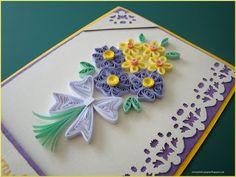 Un alt buchet quilling Paper Quilling Flowers, Paper Quilling Cards, Paper Quilling Patterns, Quilling Paper Craft, Quilling Ideas, Flower Birthday Cards, Birthday Card Design, Pink Birthday, Glue Crafts