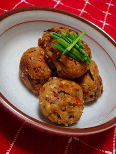 A recipe for deep-fried tofu balls. HAHAHAHA but also, delicious!