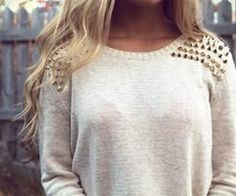 Love The Studs To A Otherwise Simple Sweater. Simple Edge | Winter