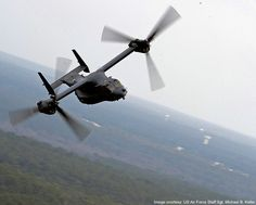 The V-22 Osprey is a joint service, medium lift, multi-mission tilt-rotor aircraft developed by Boeing and Bell Helicopters. - Image - Airforce Technology
