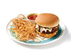 Mix It Up: Spaghetti Burgers    For a creative twist on two dinner staples, top burger patties with mozzarella and tomato sauce and serve with crispy, cheesy deep-fried noodles.