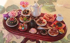 Dollhouse Miniature Food Easter Party Polymer Clay Fimo