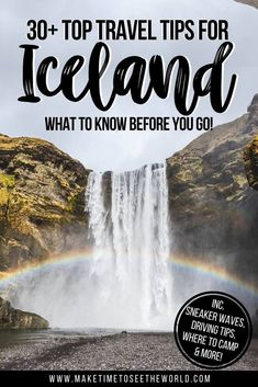 Traveling to #Iceland? Don't miss this round-up of incredible Iceland Travel Tips from people who have been there. Be prepared for sneaker waves, suicidal sheep and the (potentially) fruitless search for the Northern Lights. *** Iceland Travel | Iceland Reykjavik | Iceland Things to do | Iceland Blue Lagoon | Iceland Budget | Iceland Itinerary | Iceland Summer | Iceland Winter | Iceland Packing | Iceland Food | Iceland Travel Tips | Iceland Travel Guide Iceland Travel Tips, Europe Travel Guide, Travel Guides, Iceland Budget, Traveling Tips, Budget Travel, Travelling, Europe Destinations, Amazing Destinations