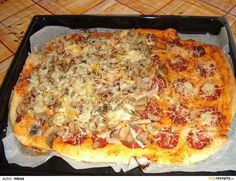 Pizza bez droždí recept - TopRecepty.cz Hawaiian Pizza, Dumplings, Vegetable Pizza, Toast, Bread, Vegetables, Ethnic Recipes, Pizza, Lasagna