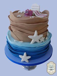 Beach cake #miraquetarta