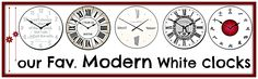Contemporary Clocks, Modern Clock, White Wall Clocks, White Decor, Modern Decor, Archive, Blog, Design, Contemporary Mantel Clocks