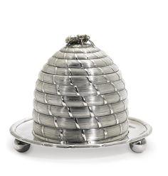 AGeorge III silver beehive honey pot, Paul Storr, London, 1802
