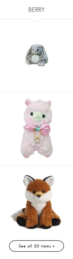 """""""BERRY"""" by la-yuki ❤ liked on Polyvore featuring toys, stuffed animals, plushies, random, accessories, filler, fillers, fillers - pink, baby and ddlg"""