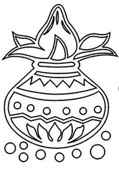 Use Theses Rangoli Designs for Hindu Festival Decorations: Ghara Design 1