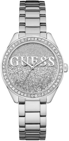 GUESS Women's Silver-Tone Glitter Watch. Watch fashions. I'm an affiliate marketer. When you click on a link or buy from the retailer, I earn a commission.