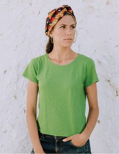 Zaz hemp tee by Up Rise Conscious Hemp Wear Hemp Fabric, Office Looks, Spring Green, Casual T Shirts, Organic Cotton, T Shirts For Women, Tees, Clothing, How To Wear