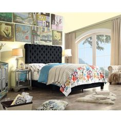 Brooklyn Queen Upholstered Panel Bed