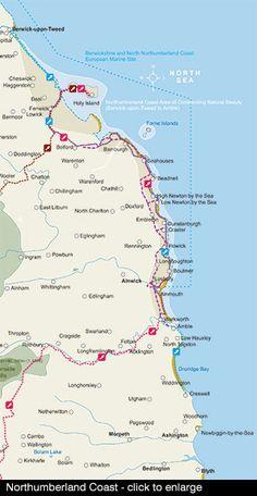 Northumberland Coast Northumberland National Park, Northumberland England, England Map, North East England, Tourist Information, English Countryside, North Yorkshire, Lake District, British Isles