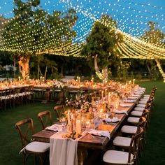 35 String Light Ideas for Your Wedding Space Wedding, Tent Wedding, Wedding Dinner, Dream Wedding, Blue Wedding, Garden Wedding, Wedding Reception Lighting, Party Lighting, Backyard Wedding Lighting