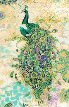 Addicted to Paisley 'n Peacocks Peacock Decor, Peacock Bird, Peacock Colors, Peacock Feathers, Peacock Quilt, Paisley, Illustrations, Illustration Art, Arabesque