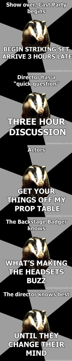More Backstage Badger memes