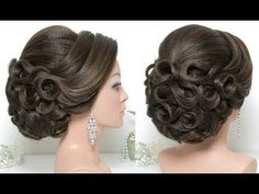 Indian bridal hairstyle. Classic updo for medium to long hair tutorial - YouTube