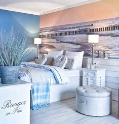 coastal bedrooms Brilliant Pretty DIY Interior Designs from 47 Blue Interior European Style Ideas collection is the most trending home decor this winter. Beach House Bedroom, Beach House Decor, Diy Interior, Interior Decorating, European Home Decor, European Style, Pinterest Home, Coastal Bedrooms, Beautiful Bedrooms