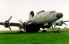 A derelict EC-121 Lockheed Constellation.