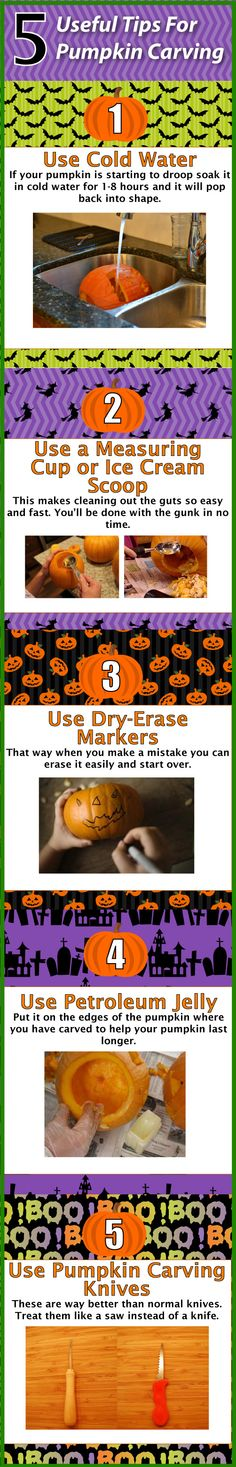 pumpkin carving tips - good to know!!